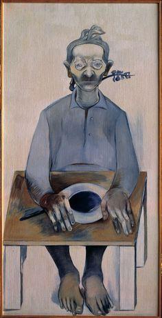 Neşe ERDOK,Anneannem, 150x75 cm, 1978, Tuval üzerine yağlıboya Bernard Shaw, Great Women, Figure Painting, Istanbul, Statue, Contemporary, Artist, Paintings, Paint