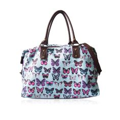 722bee684a LYDC Nicole Butterfly Large Holdall LN7517HD - Light Blue. UK Fashion  Studio · Messenger Bags and Satchels