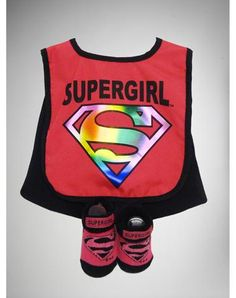 Supergirl Bib & Bootie Set
