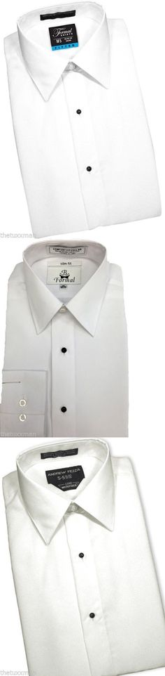 Tuxedo and Formal Shirts 105512: New Mens Slim Fit White Laydown Collar Tuxedo Shirt Plain Front Formal Shirts -> BUY IT NOW ONLY: $34.79 on eBay!