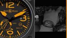 Bell&Ross  black and yellow