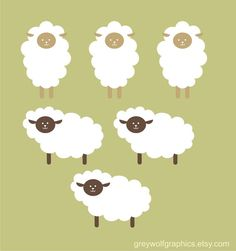 Decals for lamb/sheep themed nursery