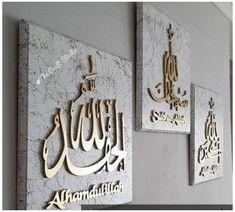 Islamic Wall Decor, Islamic Art Pattern, Arabic Calligraphy Art, Prayer Room, Islamic Gifts, Diy Home Crafts, Wall Design, Wall Art Designs, Wall Art Decor