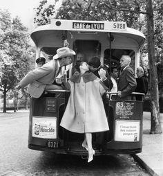 by Richard Avedon Audrey Hepburn, Mel Ferrer and Buster Keaton in «Paris Pursuit» for Harper's Bazaar, Paris 9 August 1959*