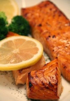 Brown Sugar Salmon - This is my absolute favorite way to prepare salmon. The fish is marinated and then placed in a 450 degree oven for 15 minutes and then broiled for 5