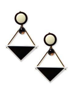 Geometric earrings by MARNI. #newseasonnow $360.00