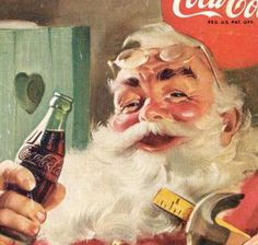 Vintage, Coca-Cola Christmas Santa ad. Brings back warm, childhood memories!