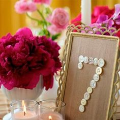 Button DIY Table Numbers