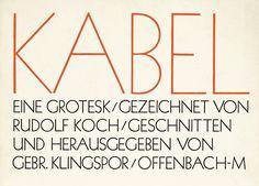 Kabel | Font-Wiki | Typografie.info