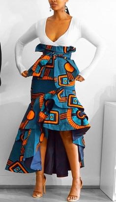 african attire for women outfits * african attire . african attire for men . african attire for women outfits . african attire for kids African Print Dress Designs, African Print Skirt, African Print Dresses, African Print Fashion, Latest African Fashion Dresses, African Dresses For Women, African Attire, African Wear, African Outfits