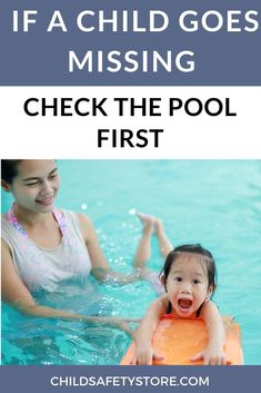 A missing child can be a very scary thing. Understandably, most parents are panicked in this type of situation. To improve your chances of finding your child unharmed, always check the pool first! Teach Kids To Swim, Learn To Swim, Swimming Drills, Swimming Gear, Summer Safety Tips, Water Survival, Swimming Benefits, Swimming Equipment, Water Safety