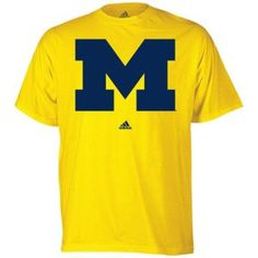 adidas men's Michigan T-Shirt in yellow and dark blue ~ Two colors that will definitely look good with an HTC One Blue!
