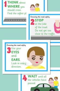 Crossing the Road Safely Posters
