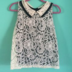 Ginger G lace tank blouse No tag but fits size small//lace//small lace unravel on right underarm//great condition other than that Ginger G Tops Tank Tops