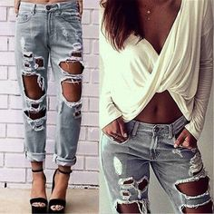 Want skull tops, hoodies, leggings and more Sexy Women Ripped... add to any wardrobe http://rebelstreetclothing.com/products/sexy-women-ripped-jeans-slim-casual-denim-solid-casual-adventure-time-gothic-hollow-out-pant-straigh-tassel-trousers-jeans-femme