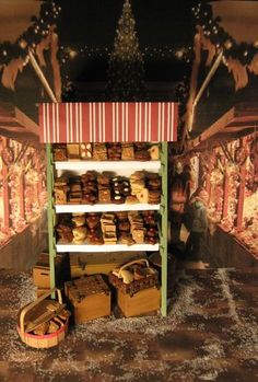 Stall Front View of Lebkuchen - tutorial for making these with lots of hints and tips