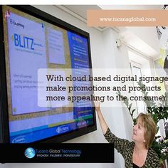 With #cloud based #digitalsignage make #promotions and #products more #appealing to the #consumer. #TucanaGlobalTechnology #Manufacturer #HongKong