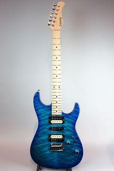 2014 Sadowsky Modern Edge Strato in Aqua Blue Burst