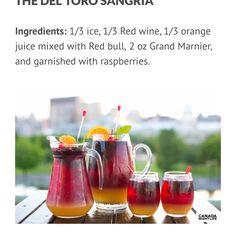 TERRASSES BONSECOURS SANGRIA OLD PORT | MONTREAL, QUEBEC