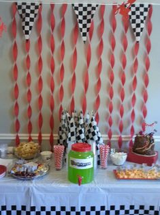Motocross Birthday Party -- Refueling Station Motocross Birthday Party, Bike Birthday Parties, Dirt Bike Birthday, Motorcycle Birthday, Motorcycle Party, 5th Birthday Party Ideas, Birthday Bash, Birthday Party Decorations, Dirt Bike Party