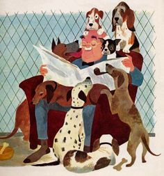 Aurelius Battaglia, illustration from Stories to Read to the Very Young, 1966