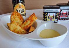 Patatas Deluxe con Salsa de Mostaza y Miel.   Cocinando con las Chachas