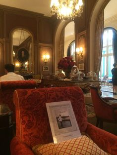 in the beautiful Salon Proust @Ritz Paris.
