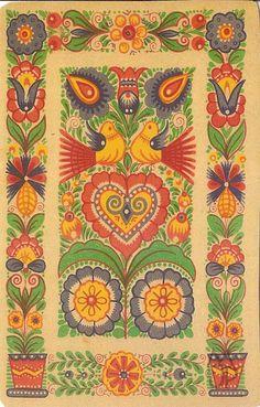 Pohľadnice Milana a Jána Pánského: Štefan Leonard Kostelníček Tile Patterns, Pattern Art, Contemporary Decorative Art, Polish Folk Art, Tie Dye Crafts, Naive Art, Painting Inspiration, Textile Art, Flower Art