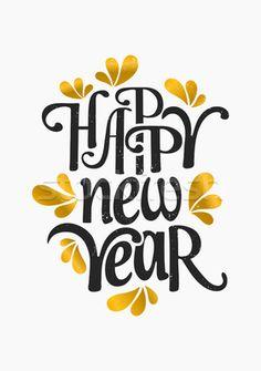Happy New Year Greeting Card Template Сток-фото © ivaleksa