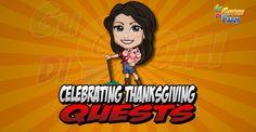 Celebrating Thanksgiving Quests  Inizio previsto per il 19/11/2015 alle ore 13:30 circa Scadenza il 03/12/2015 alle ore 19:00 circa  Salve Agricoltore? Ho sentito che sei un esperto nellorganizzarefeste! Sembra che potrei chiedereil tuo aiuto. Vuoi darmi una mano?    Mancano 16 giorni 6 ore 23 minuti 31 secondi alla scadenza della quest!    Quest #1  Fatti mandare dai tuoi vicini 7 Turkey Plate; con gli sconti SmartQuest dovrebbero servirne un massimo di 1 (clicca sul tasto Ask Friends per…