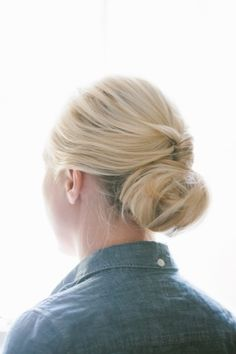 sophisticated bun updo // photo by T Photographie