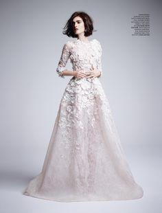 Elie Saab Haute Couture 2014 for Tatler UK