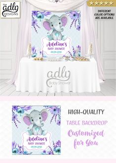 heart healthy dinner recipes for two party invitations recipes Baby Shower Candy Table, Baby Shower Niño, Baby Girl Shower Themes, Baby Shower Flowers, Baby Shower Signs, Purple Elephant, Baby Girl Elephant, Elephant Birthday, Elephant Baby Showers