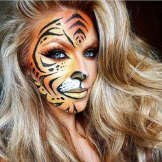 Fierce Tiger Makeup for Halloween