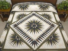 Compass Reflections Quilt -- superb specially made Amish Quilts from Lancaster (hs6081)