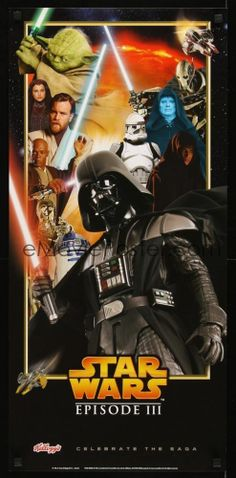 STAR WARS REVENGE OF THE SITH MOVIE POSTER-TIE IN FROM KELLOGG'S-MINT CONDITION