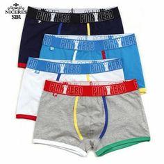 f266772298c PINK HERO men underwear wholesale Cotton Gay Mens Underwear Boxers Brand  Penis Pouch U Convex Man