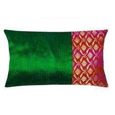Handmade chanderi silk pillow cover in black and gold tear drop, made using chanderi silk and polyester dupion fabric. Cushion Cover Designs, Cushion Covers, Duvet Covers, Matching Bedding And Curtains, Bedding Sets, Indian Pillows, Silk Pillow, Lumbar Pillow, Throw Pillows
