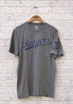 competitive price 9c1e9 a6e7c 47 Texas Rangers Grey Vintage Fieldhouse Short Sleeve Fashion T Shirt