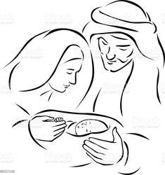 Christmas Sketch, Christmas Rock, Christmas Nativity Scene, Christmas Drawing, Christmas Paintings, Christmas Colors, Vector Christmas, Nativity Scenes, Christmas Bells