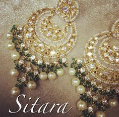 Balas in polki and 22k gold. Pearls and Emerald drops.  In stock Mail sitara.shalini@gmail.com