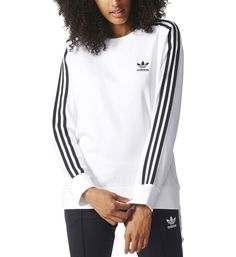 c0d41076e864 Adidas Originals Sweat 3-stripes A-line Mode Femme Vêtements Pulls Et  Gilets Sweat