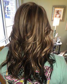 Fall hair ! Warm Beige Browns with Soft Beige Blonde highlights .. @joliecheveuxoflexington on fb !!!