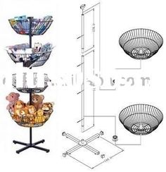 Toy Display Rack / Metal Toy Stand / Candy Rack (spinning)