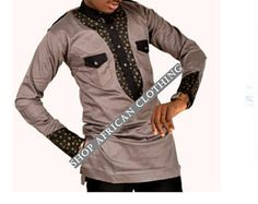 African clothing dashiki Africa shirts Africa fashion by EdemFashion African Dresses Men, African Shirts, African Men Fashion, Africa Fashion, African Attire, African Wear, African Women, African Beauty, Prom Suit