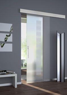 porta-in-vetro-scorrevole-battente-satinato | PORTE | Pinterest ...