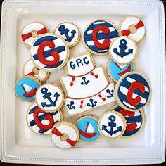 so cute nautical cookies