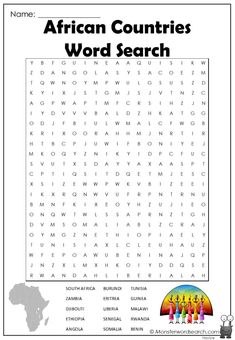 cool African Countries Word Search