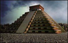 El Castillo - Mexico * El Castillo, otherwise known as the Pyramid of Kukulkan, dominates the Mexican ruins of the Mayan city of Chichen Itza.  It predates Peru's Machu Picchu.