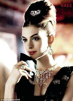 Ann Hathaway channels Audrey Hepburn in Vogue